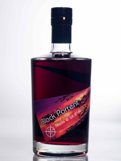 Black currant port style fruit wine
