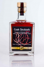 Strubarb strawberry and rhubarb liqueur aged in whisky barrel