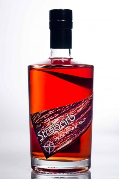 strubarb strawberry and rhubarb fruit liqueur
