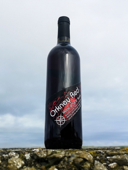 Orkney red blueberry wine