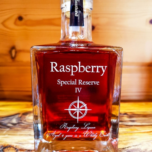 whisky barrel aged raspberry liqueur
