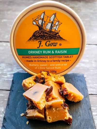 Humes J. Gow rum and raisin tablet